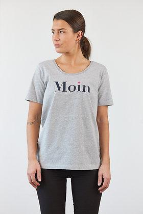 """T-Shirt """"Moin"""" in Grau"""