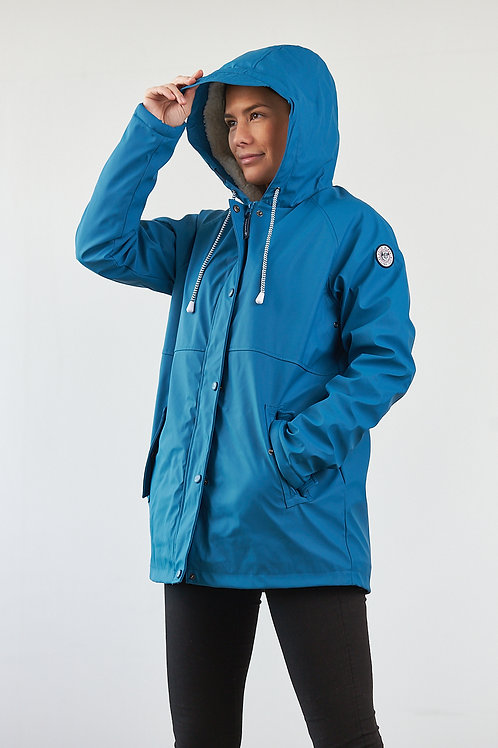 """Borneo"" Damen Regenjacke in Blau"