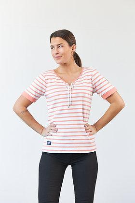 """T-Shirt """"Celeste"""" in Weiß/Peach"""