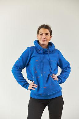 "Sweatshirt ""Elly"" in Blau"