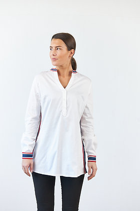 Weiße Bluse mit Tape Detail