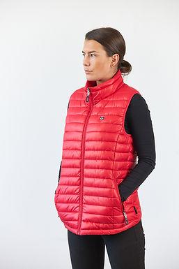 Damen Steppweste Aquitaine Rot