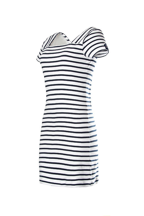 "Voile Bleue  ""Capri"" Kleid mit Streifen"