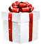 cyberWhite_Shining_Gift_Box_with_Red_Bow