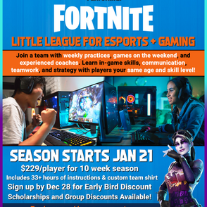 NXT UP Esports Winter League Featuring Fortnite - Now Open for Registration