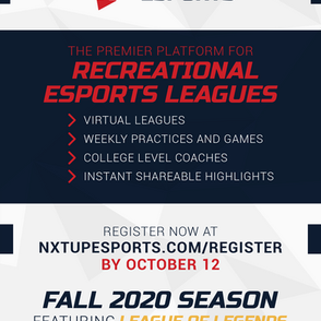 NXT UP Esports Launches