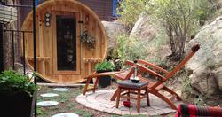 wine barrel sauna