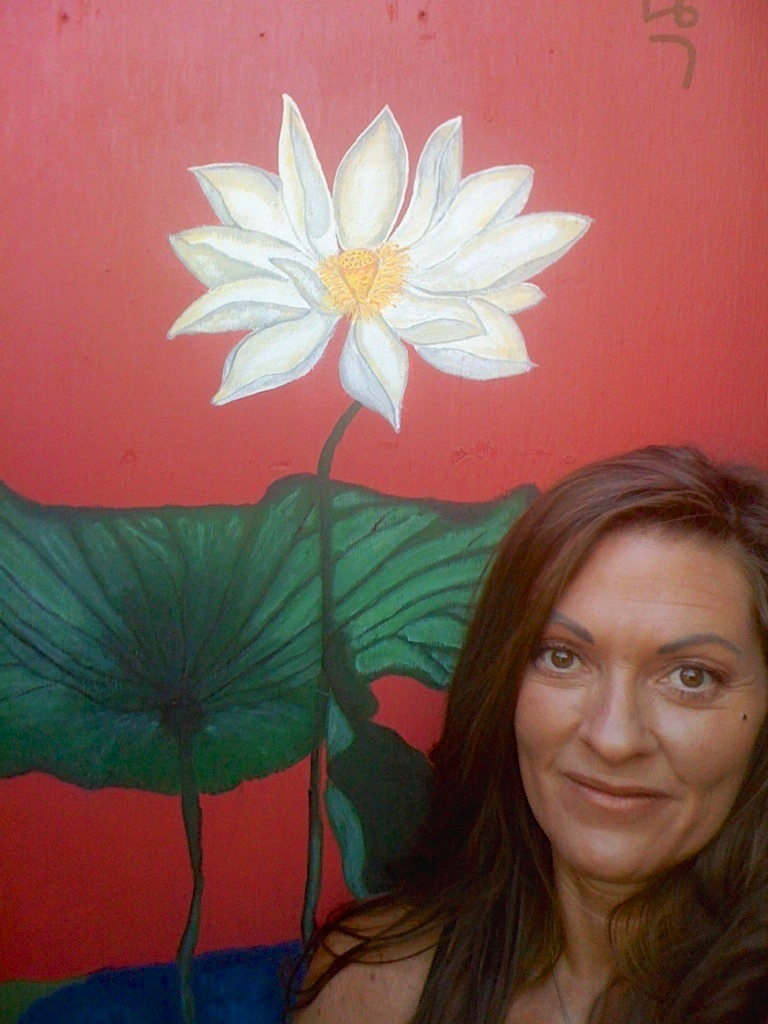 My Lotus Flower Painting front  door