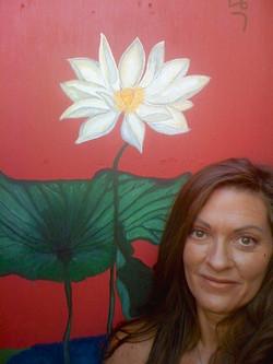 My Lotus Flower Painting front  door