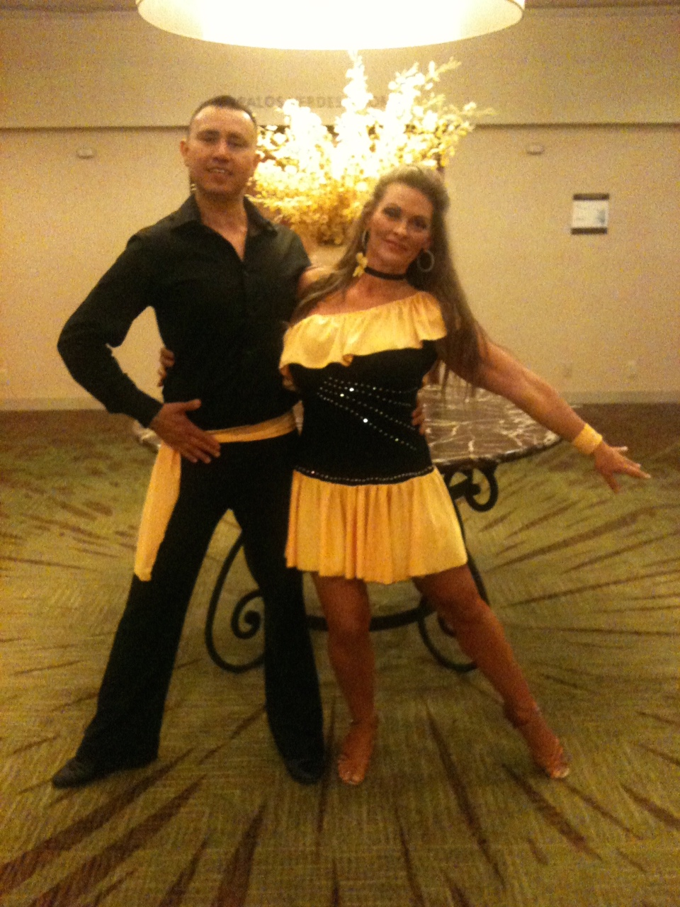 Tess Salsa Partner for LA congress