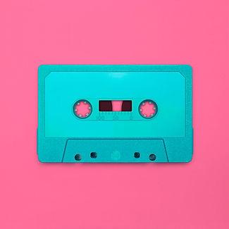 Cassette tape close up, blank for custom