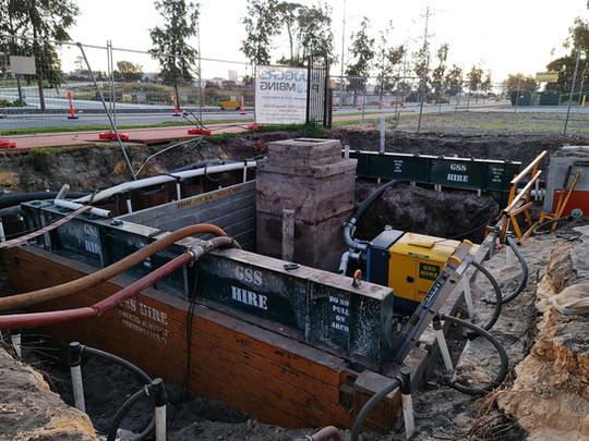 Double Teired Dewatering and Shoring