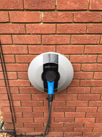 Pod Point Solo Universal 7kw EV charger.