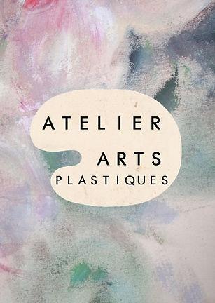 Plaquette ateliers Arts plastiques recto
