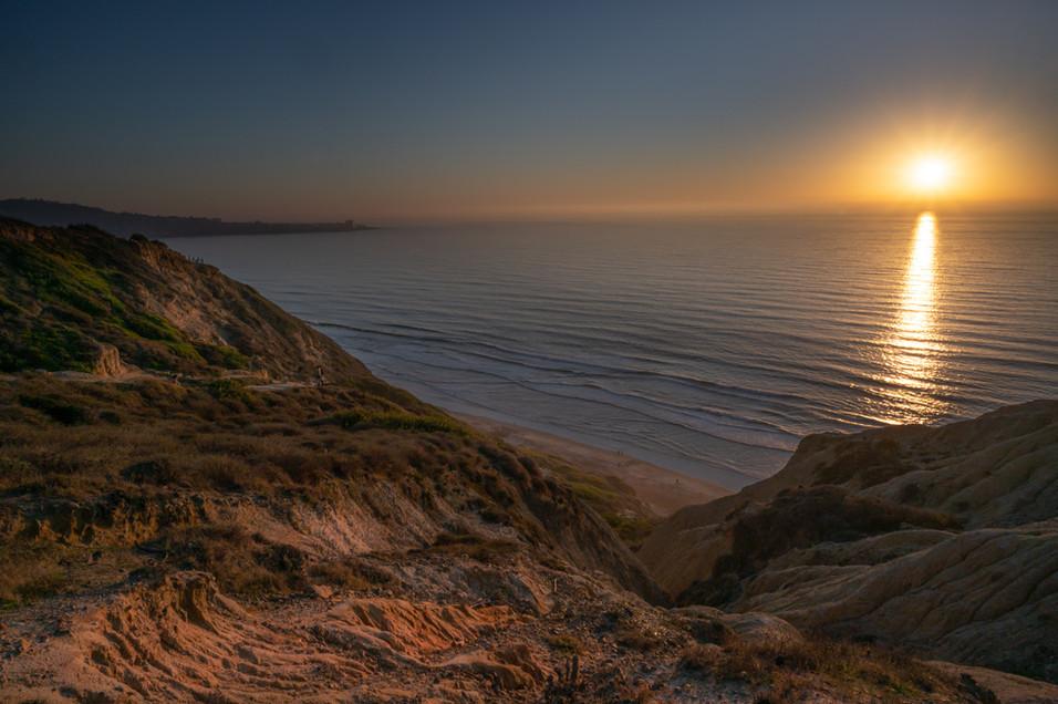 Torrey Pines at sunset