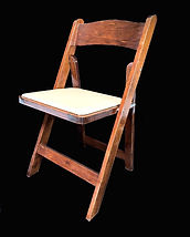 Folding Fruit Wood Chair with Ivory Cush