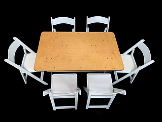 Banquet Table 4ft with Chairs.png