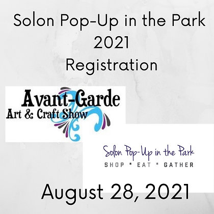 Solon Pop-Up in the Park Registration ($125.00)