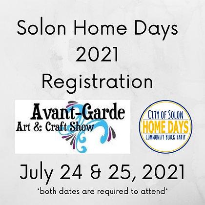 Solon Home Days Registration ($175.00)