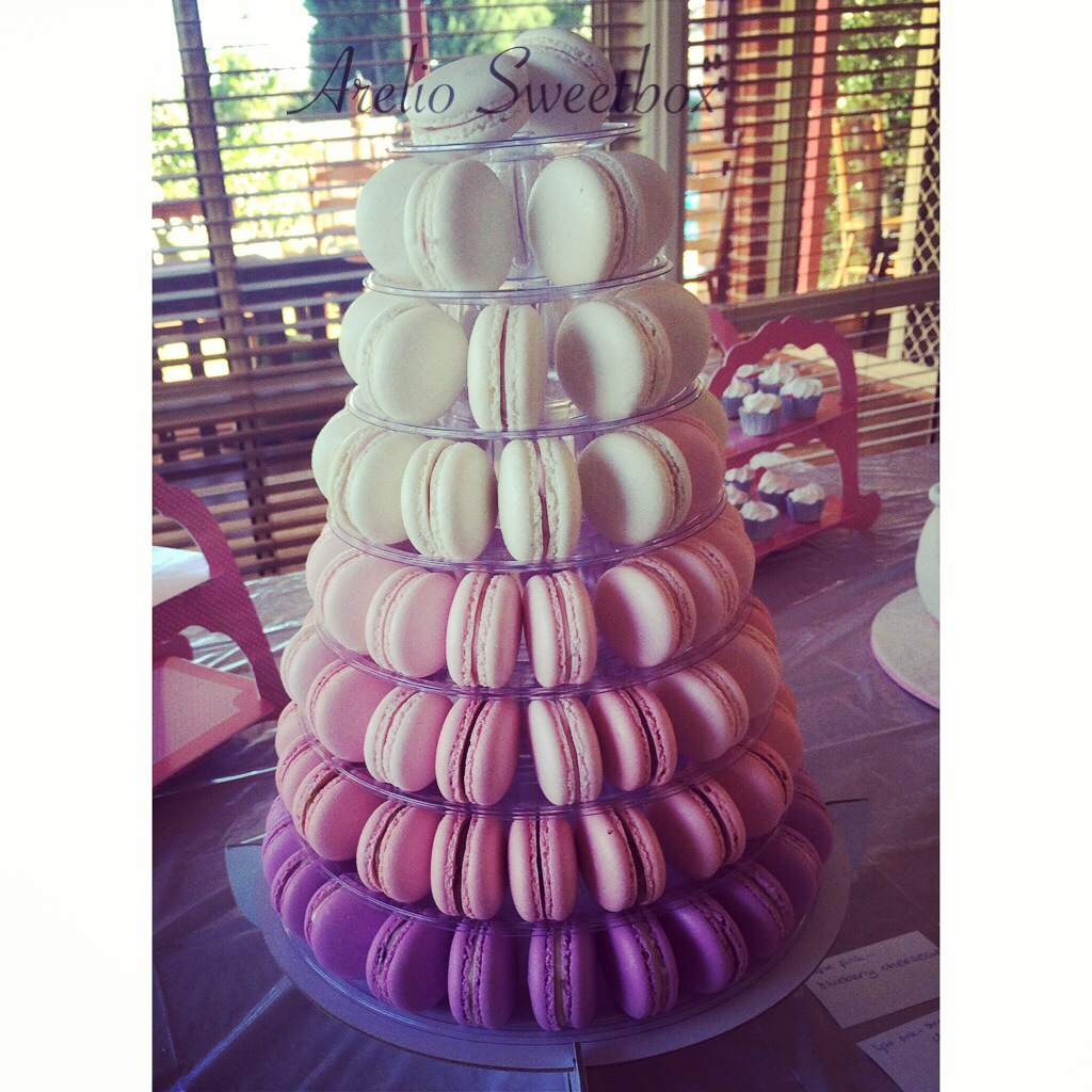 Pink/Purple Ombre 8 Tier Tower