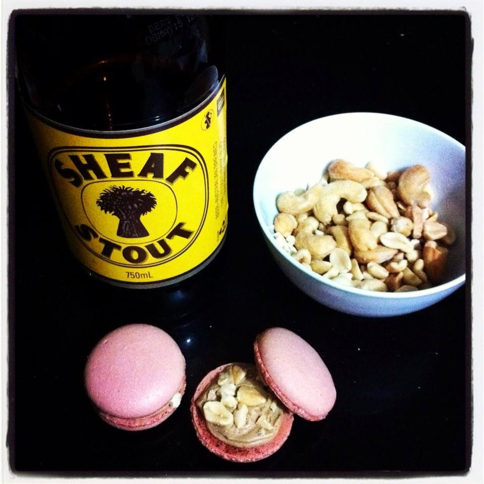 Beer and Nut Macarons