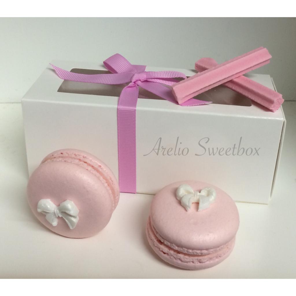 White 4 Pack Macaron Gift Boxes