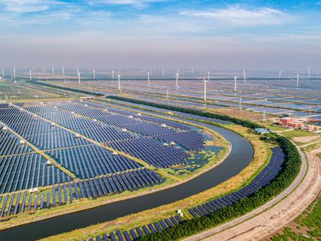 A liderança global da China em energia renovável