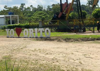 Pozo productor de petróleo en el municipio de Orito, Putumayo, Colombia. Diciembre de 2019.