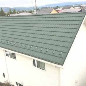 昨年に施工した瓦屋根、ディーズルーフィング クラシックタイル