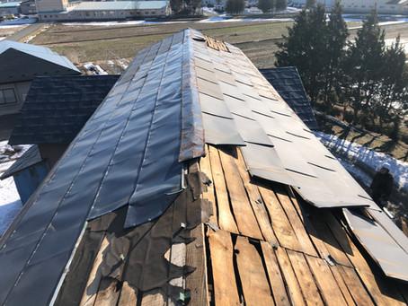 盛岡市 強風で剥がされた屋根の修理