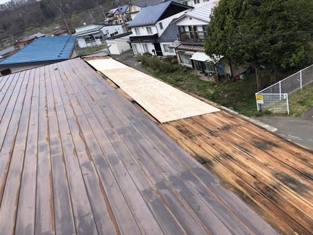 屋根の修理工事 横葺きの雨漏り 岩手町