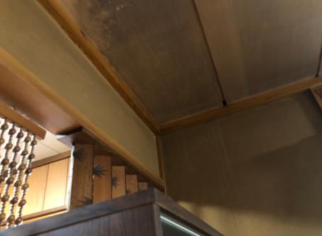 天井の雨漏りを調査します 盛岡市