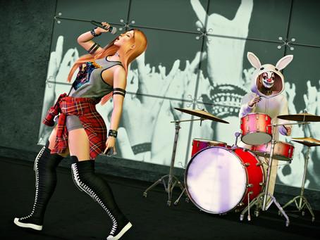 MadPea - Drum Set / Chloe Poses - Rock Singer