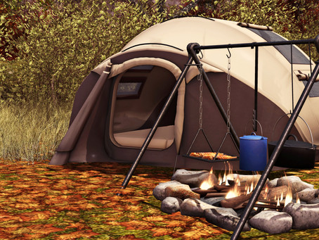 MadPea Camping Tent & Campfire for Happy Weekend!