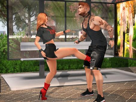 .::Chloe Poses::. - Kick in the Balls