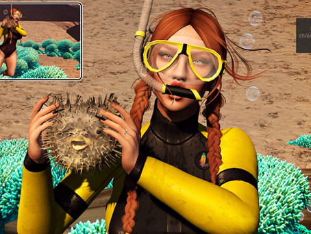.::Chloe Poses::. - Deep Sea Adventures