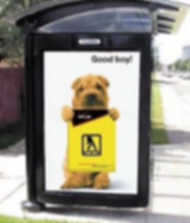 Good Boy Bus Shelter Ad