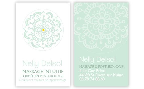 Carte de visite Nelly Delsol - Massage intuitif et posturologie