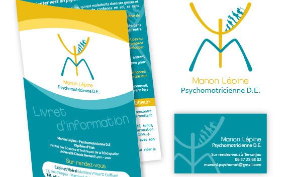 Flyer, logo et carte de visite - Manon Lépine Psychomotricienne D.E