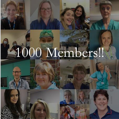 1000 members!!
