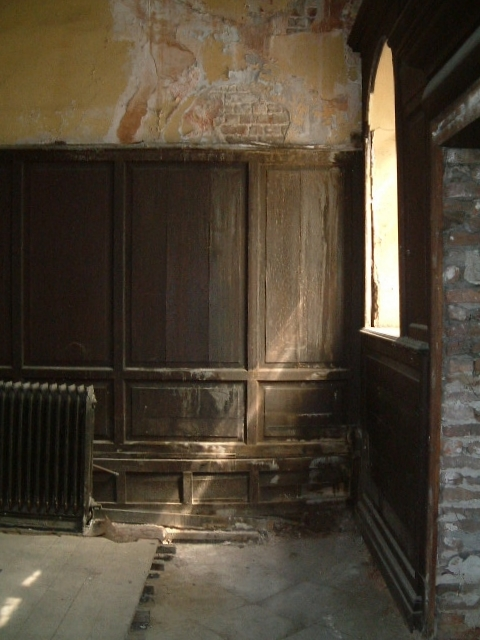 Panelling before restoration