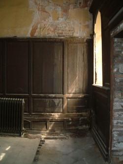 Panelling before restoration