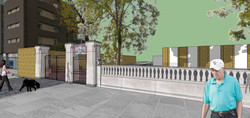 Study for repair to front railings