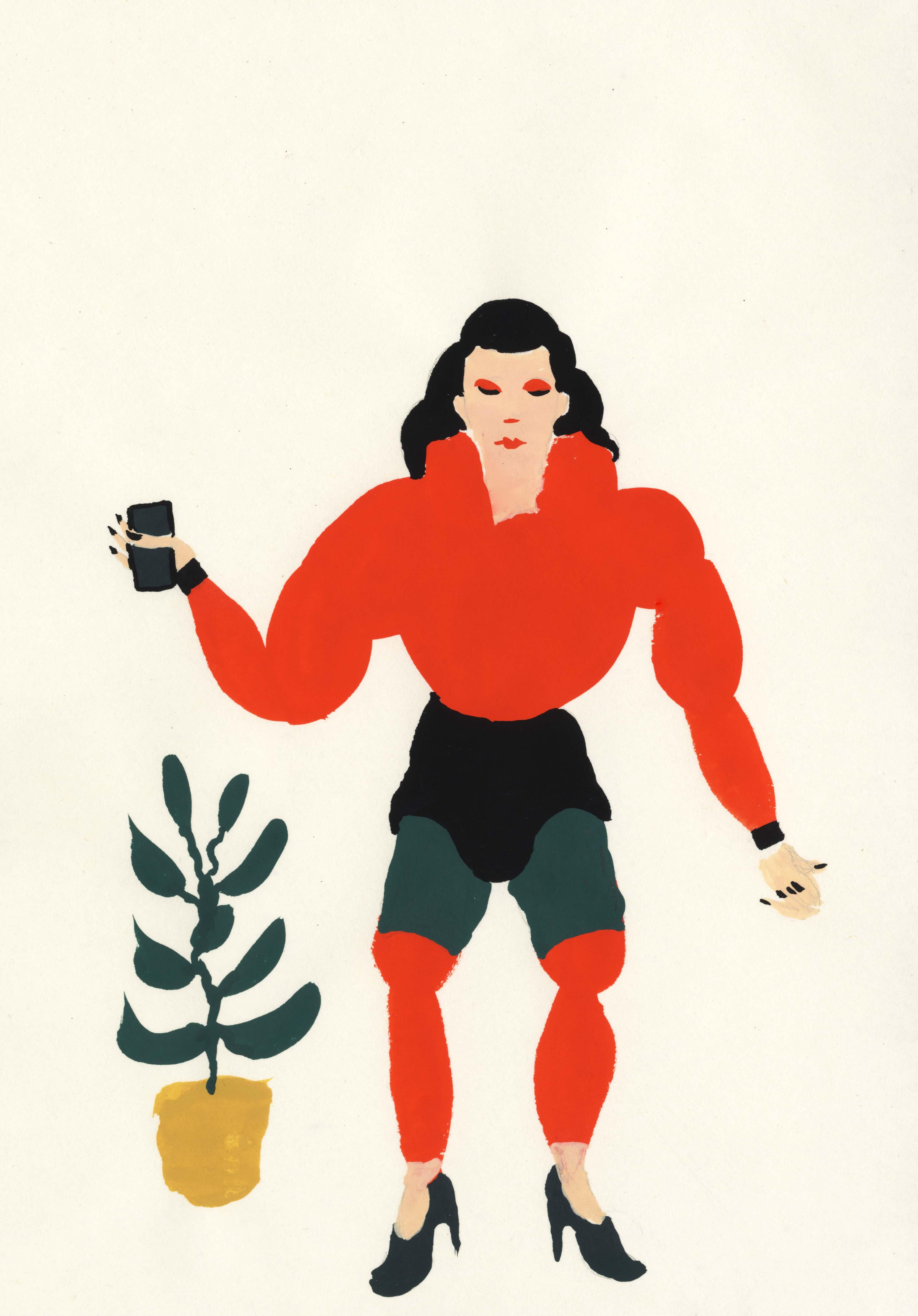 femme plante