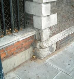 Stonework before restoration