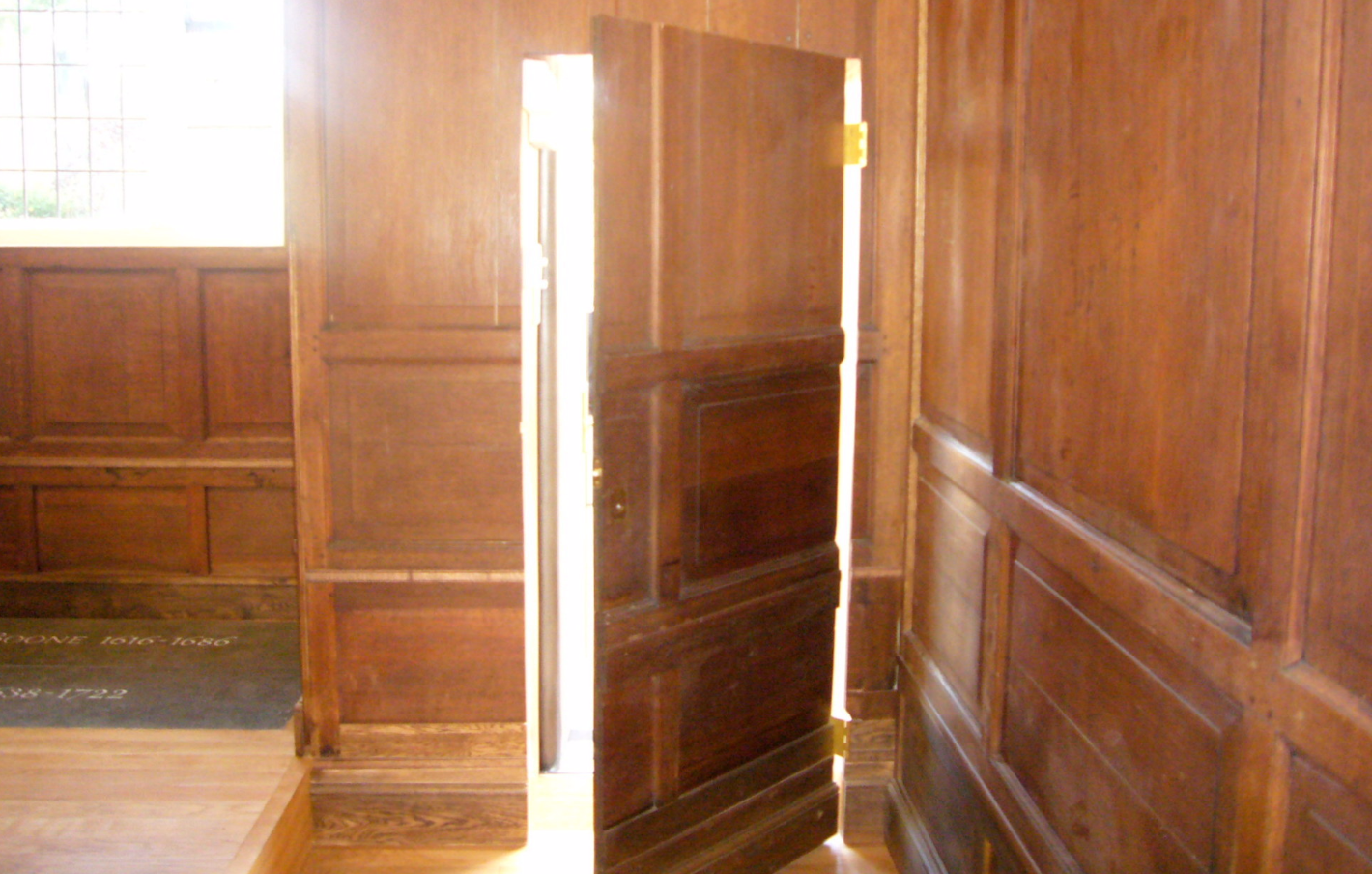 Restored panelling