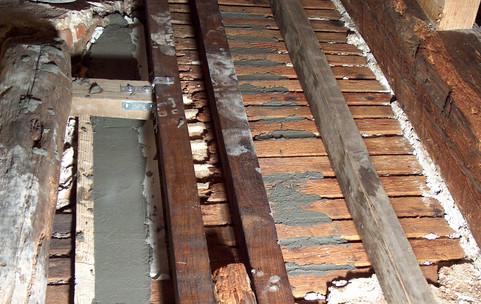 Consolidamento di soffitto