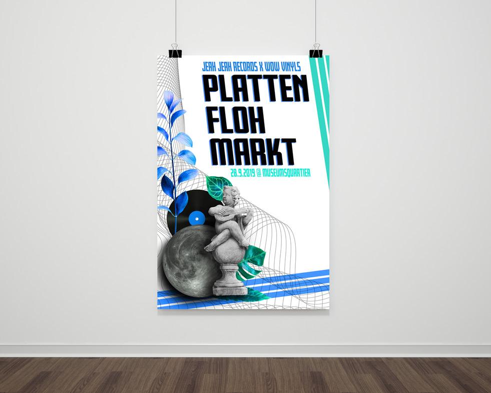 Plattenflohmarkt Poster