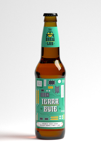 BrewLab label design
