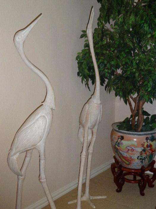 Cranes and Faux Tree